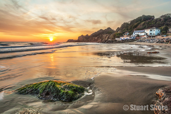 Steephill Cove at Sunset