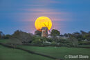 Moonrise over Bembridge Windmill