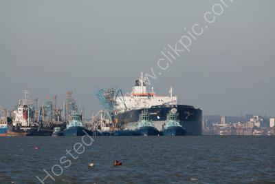 Ships at Fawley Terminal