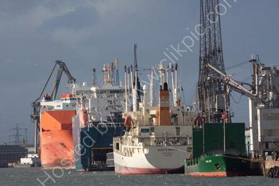 Busy Southampton Docks