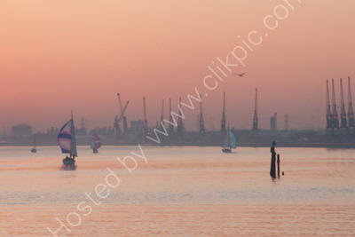 Southampton Docks at Dusk