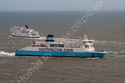 Ferry Traffic off Dover Harbour