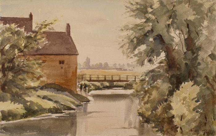 148 Kislingbury Watercolour 35 x 24