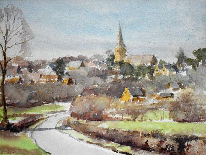 162 Walgrave Watercolour 36 x 27