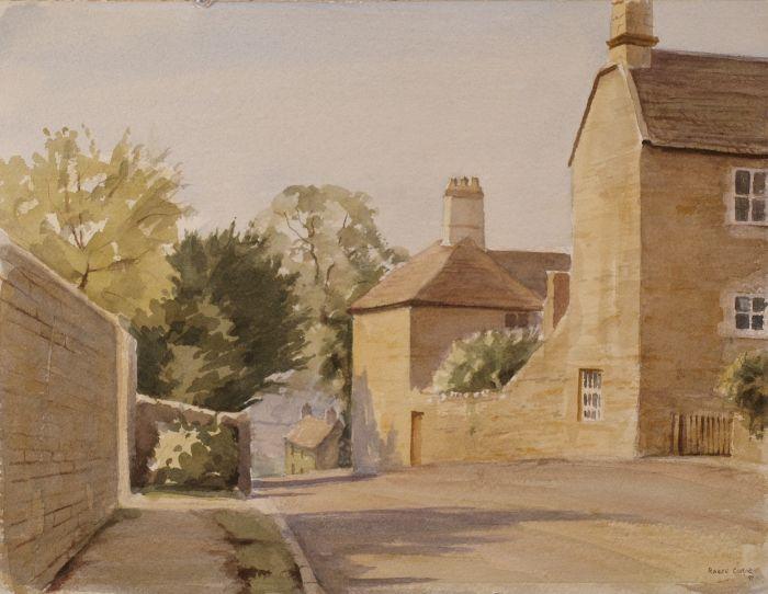 224 Back Lane Collyweston Watercolour 38 x 29