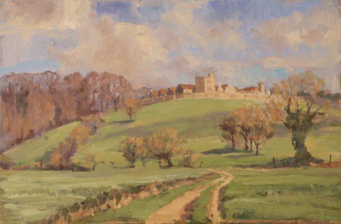 447 Rockingham Castle Oil 46 x 30