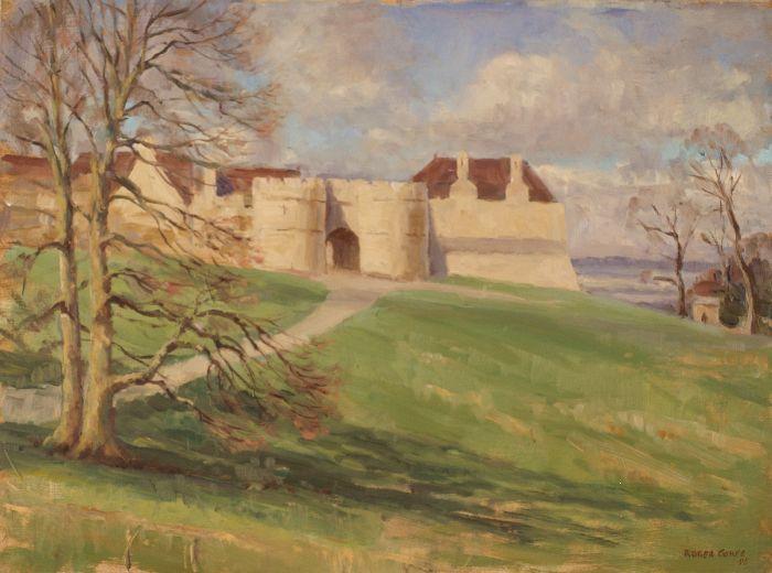 459 Entrance to Rockingham Castle Oil 39 x 29