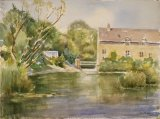 45 Wadenhoe Mill Watercolour 37 x 27