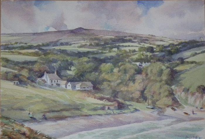 628 Pembrokeshire Coast Watercolour 35 x 25