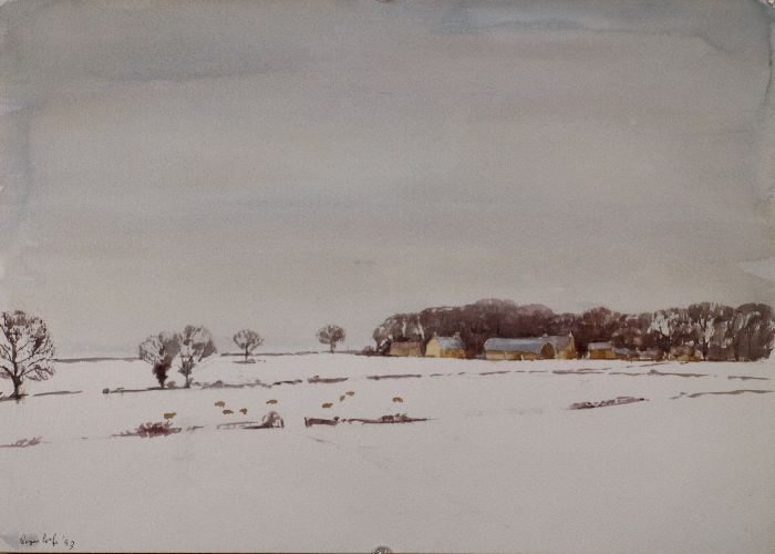 660 From the Kettering Road Watercolour 42 x 30 SOLD