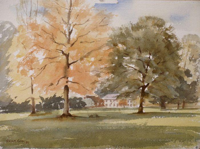 674 Autumn at Lamport Watercolour 38 x 28