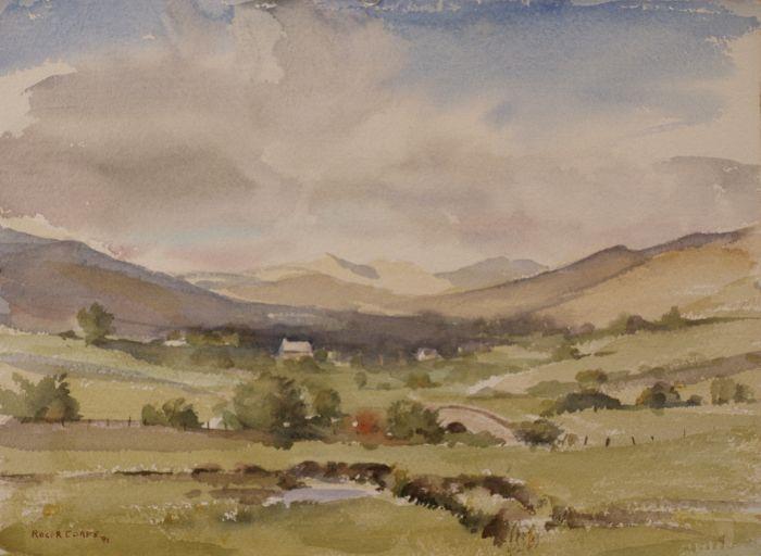 679 Nr Beddgelert North Wales Watercolour 39 x 29