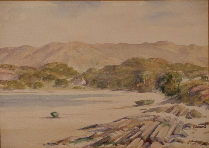 695 White Sands of Morar Watercolour 37 x 26