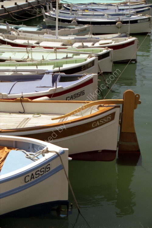 Traditional boats at Cassis, Provence, France