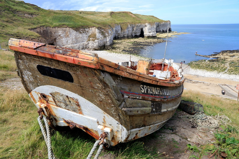 Old boat at North Landing, Flamborough