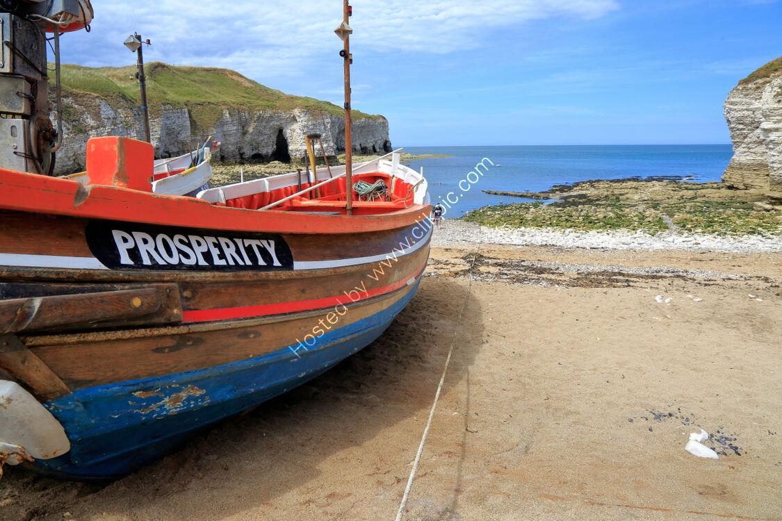 Fishing boat Prosperity at Flamborough North Landing