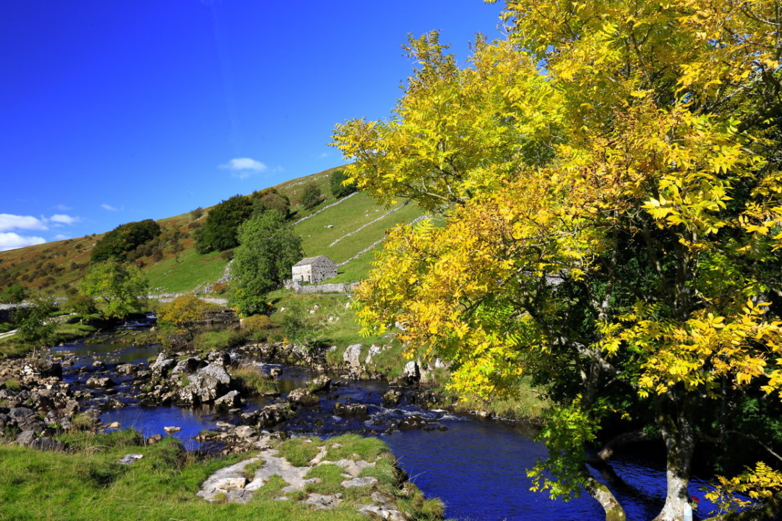 The River Wharfe at Deepdale bridge, Langstrothdale, in autumn