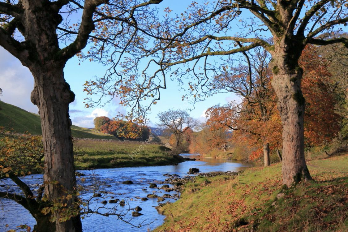 River Wharfe at Hebden, autumn
