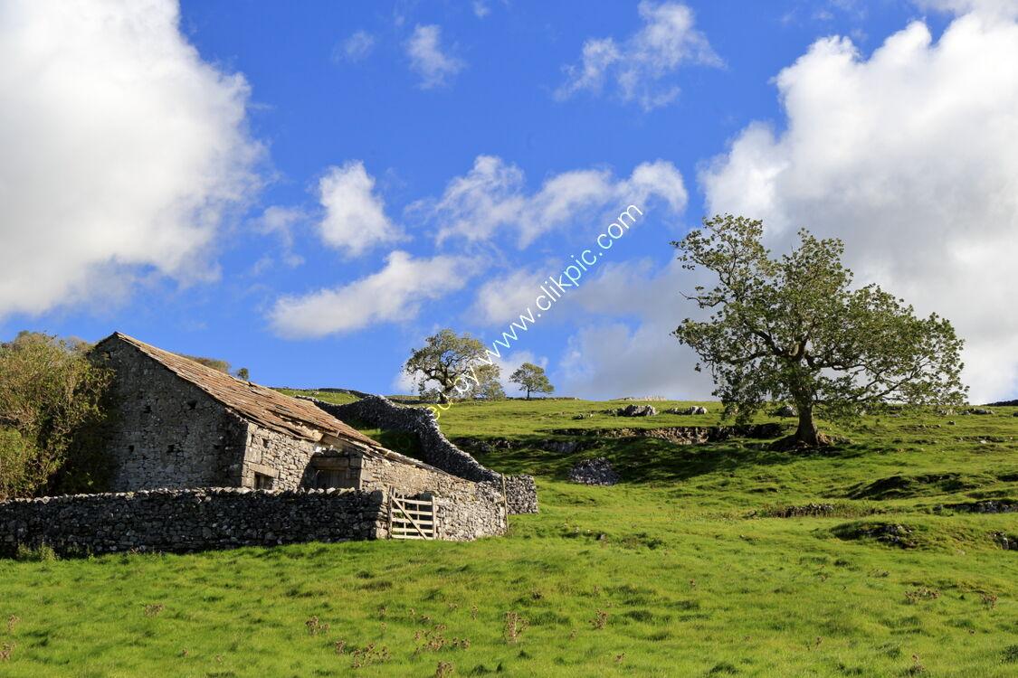 Old drystone barn at Pike Lane, Langcliffe