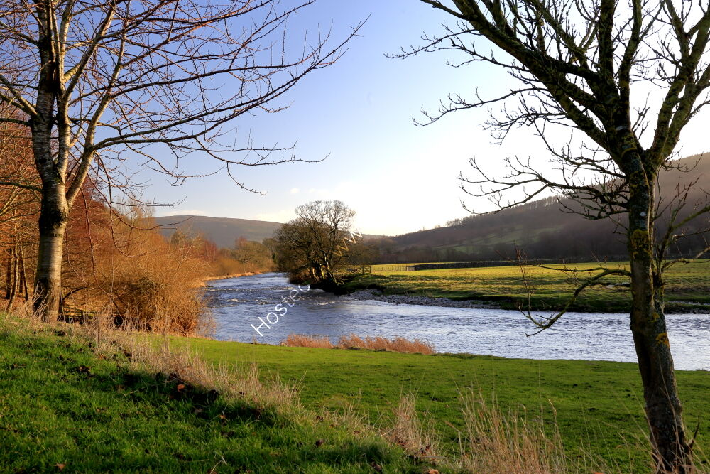 River Wharfe at Burnsall, January