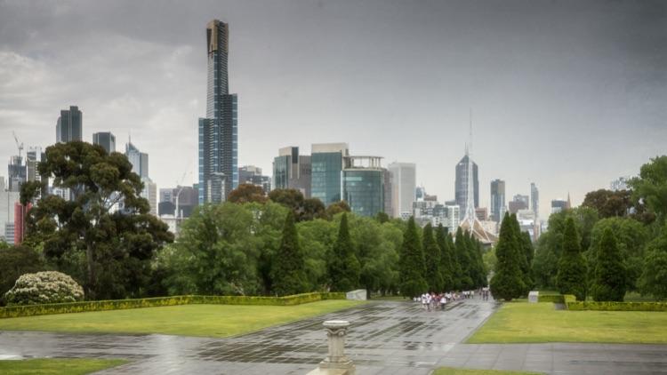 Melbourne Skyline from The Shrine