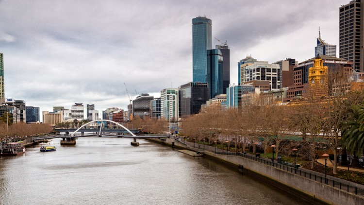 Yarra River and Rialto Tower