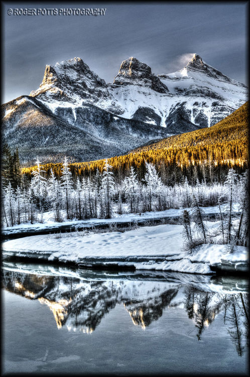 Three Sisters, Canmore, Alberta, Canada