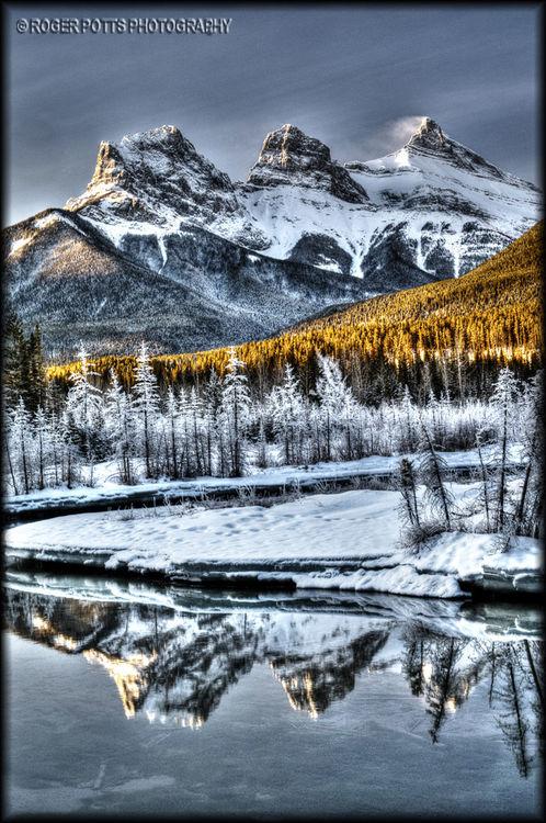 Three Sisters, Canmore, Alberta, Canada