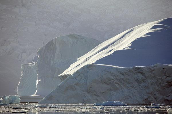Backlit iceberg