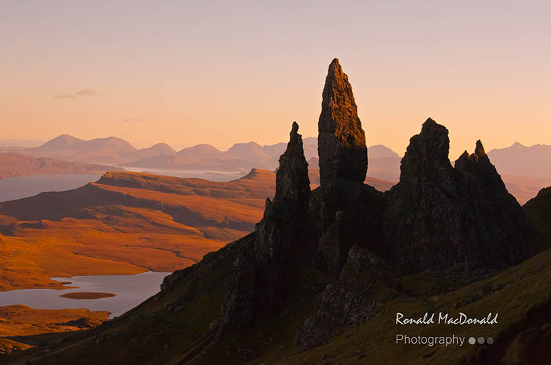 Silhouette of The Old Man of Storr