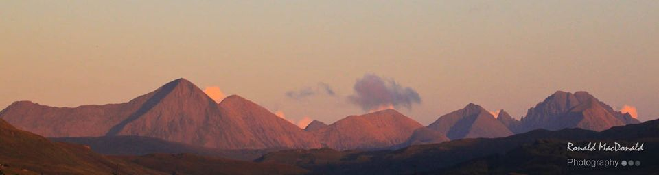 The Red Cuillin and Blaven