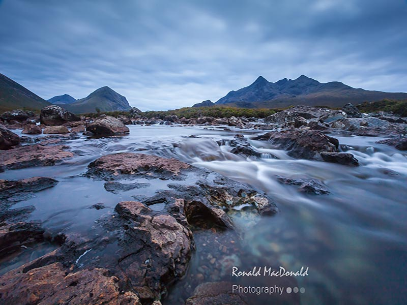 Alt Dearg Mhor pools and the Cuillin