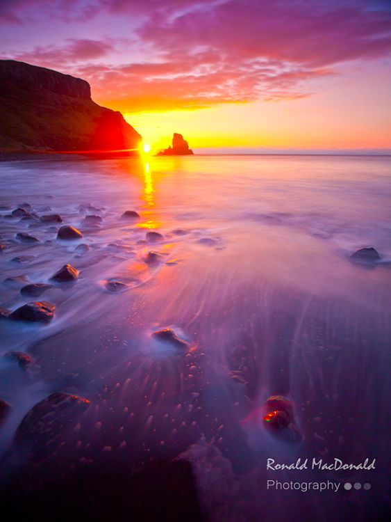 Sun Setting on Talisker Bay, Skye