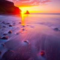 Sun Setting on Talisker Bay, Skye