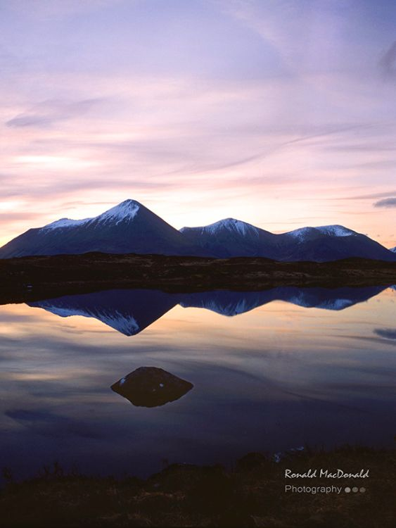 The Red Hills at Dawn, Isle of Skye (P)