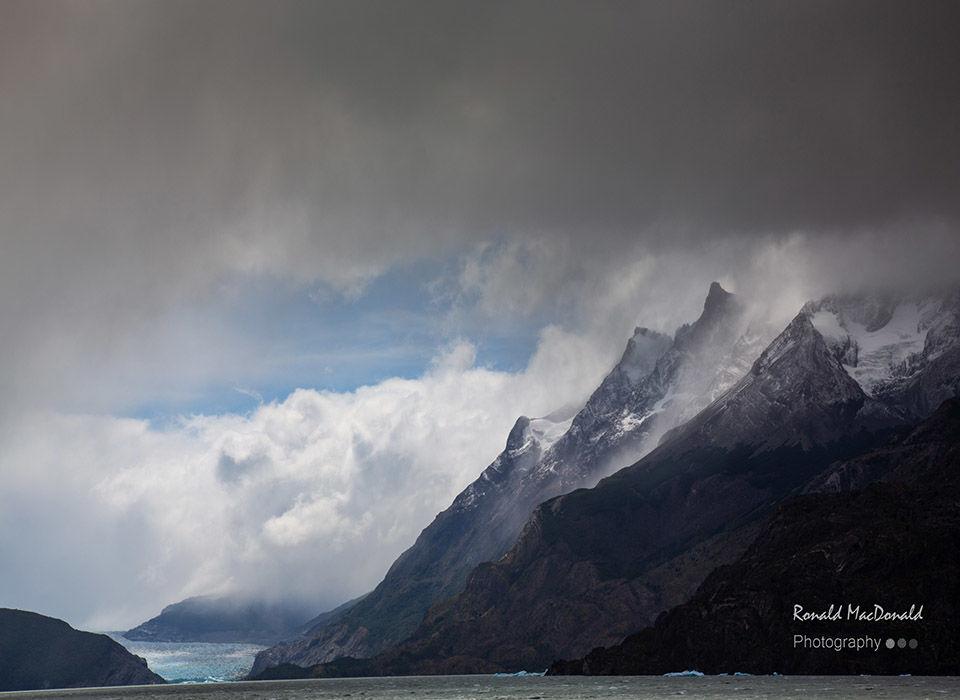 Glaciers Grey and Olguin Chile