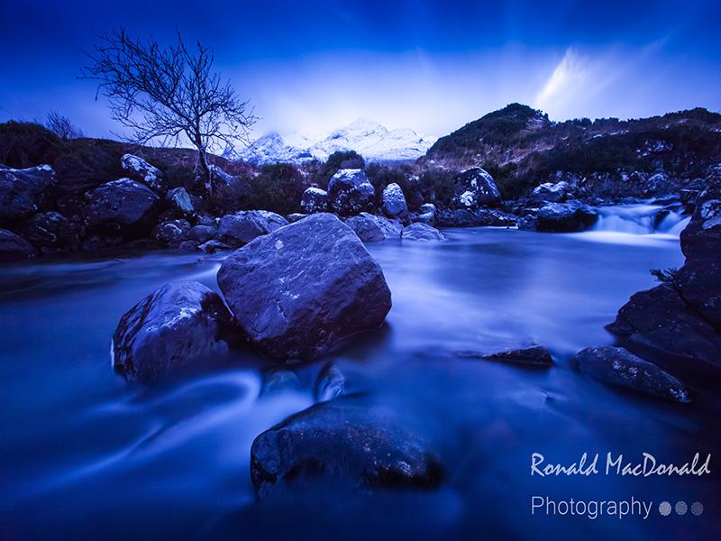 Alt Dearg Mhor and the Cuillin in Snow, Isle of Skye