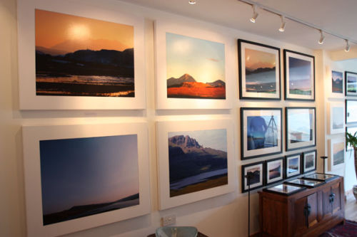 Large canvas and large framed photographic prints.