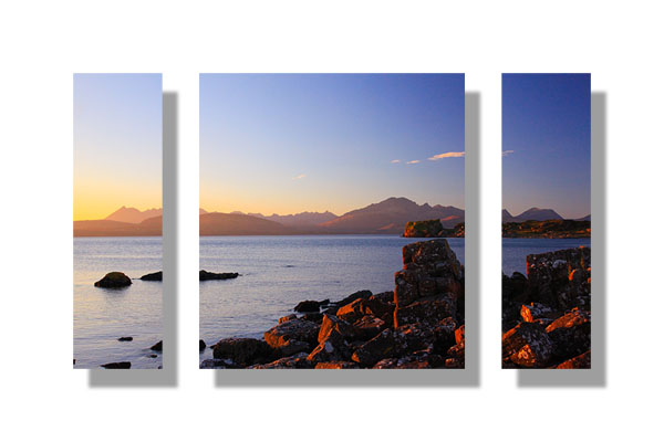 The Cuillin and Blaven from Tokavaig - Triptych