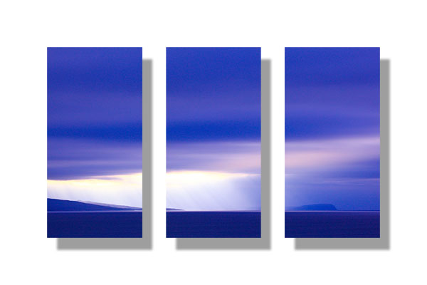 Eigg from Skye - Triptych
