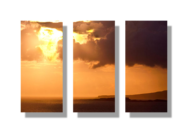 West from Ullinish - Triptych