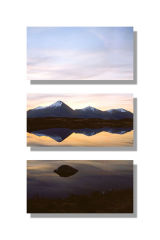 The Red Hills at Dawn - triptych