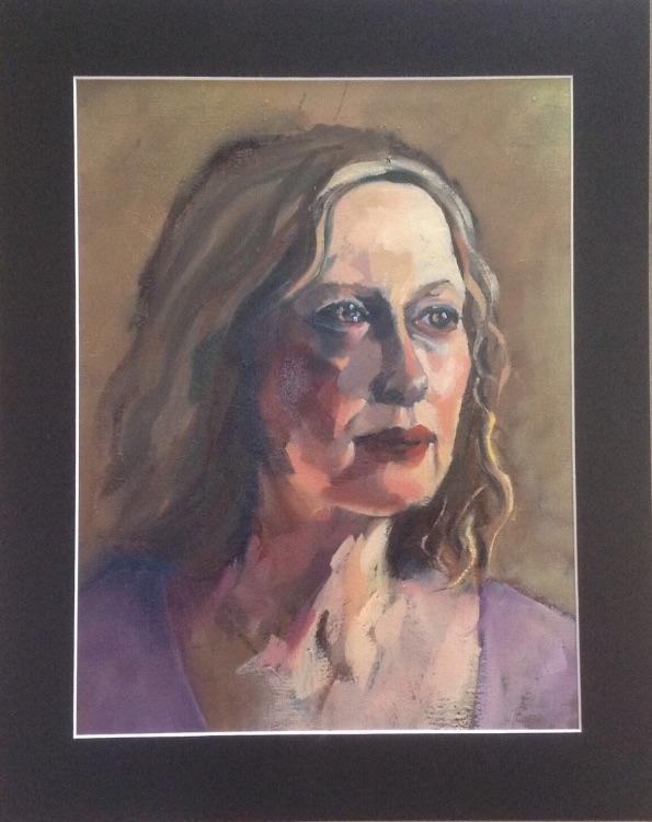 Oil portrait sketch
