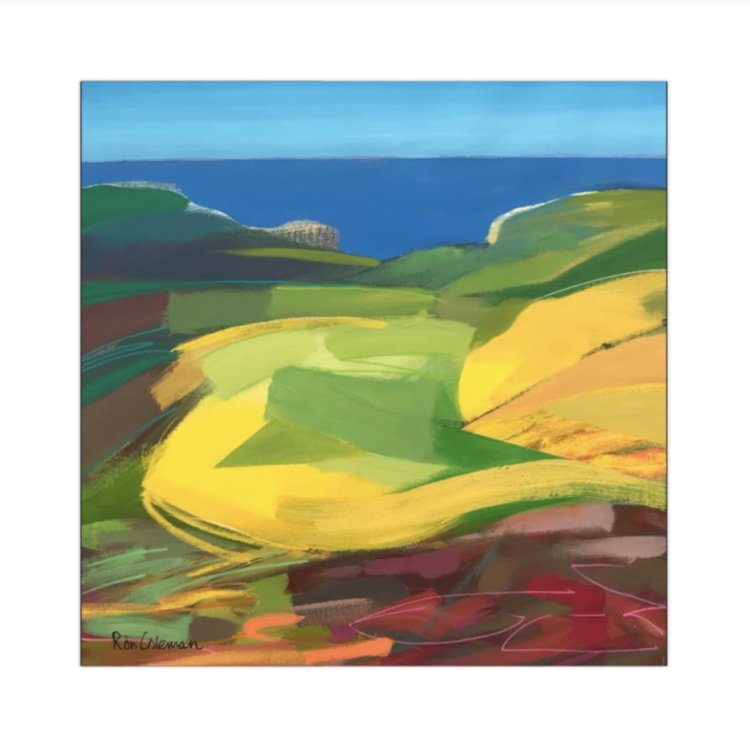 "'The Birling Gap' 22"" square"