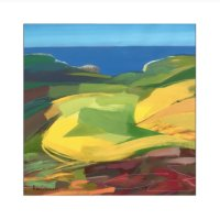 """'The Birling Gap' 22"""" square"""
