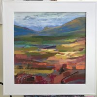 "'Caledonian landscape' 22"" square"