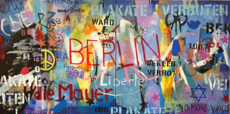 'Berlin Wall'  diptych