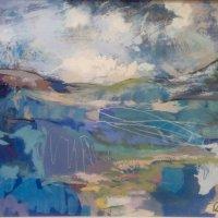 """Blue Landscape 20"""" X 28"""""""