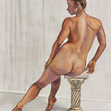 Nude Seated on Plinth