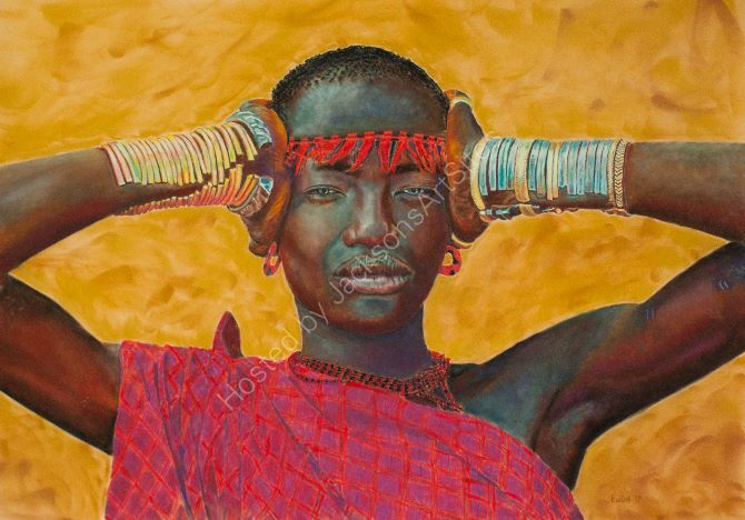 Omo Woman from photo by Eric Lafforgue
